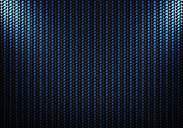 Diseño de material con textura de fibra de carbono negro azul abstracto