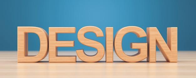 Diseño de palabra de madera sobre fondo de madera.