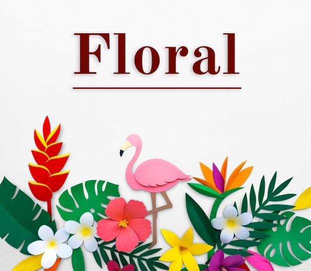 Diseño plano natural floral en flor.