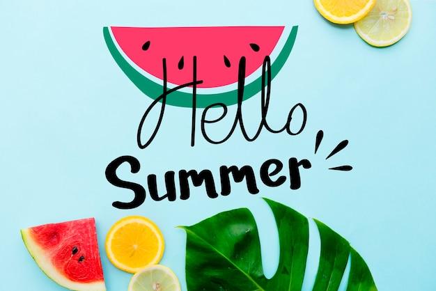Diseño de playa tropical con temática de verano