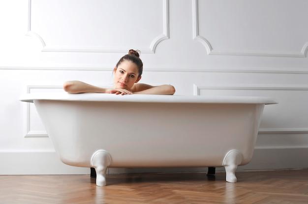 Disfrutando de un baño