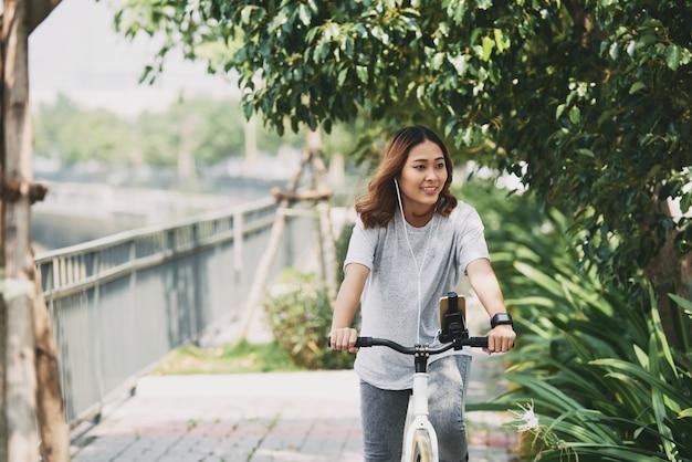 Disfrutando el ciclismo