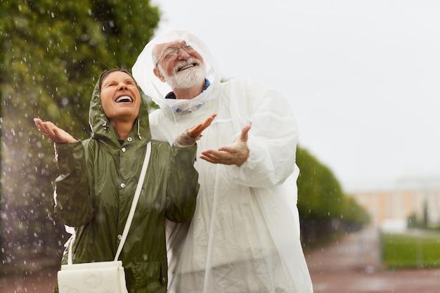 Disfrutando de la lluvia