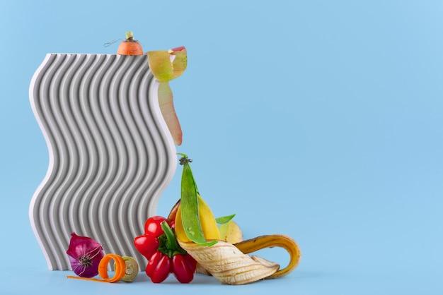 Disposición de abono de comida podrida con espacio de copia