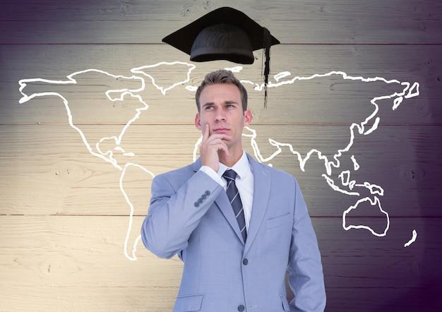Disposición concentrada señal de contrato de la educación