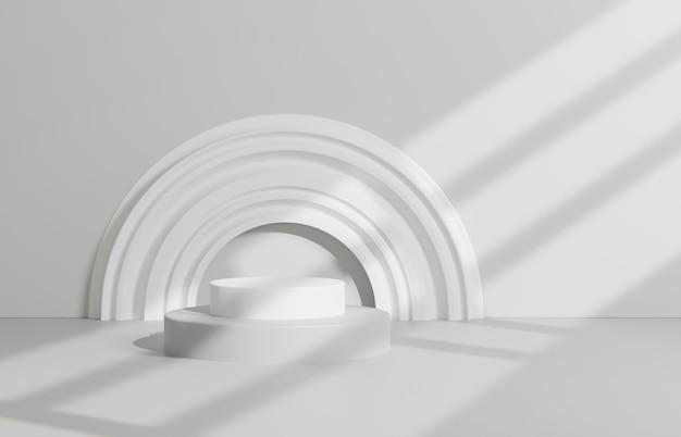Disposición de la escena creativa para la presentación del producto.