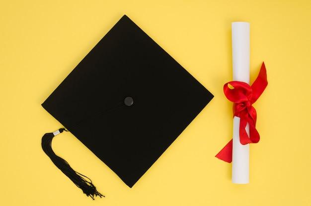 Disposición de graduación festiva plana