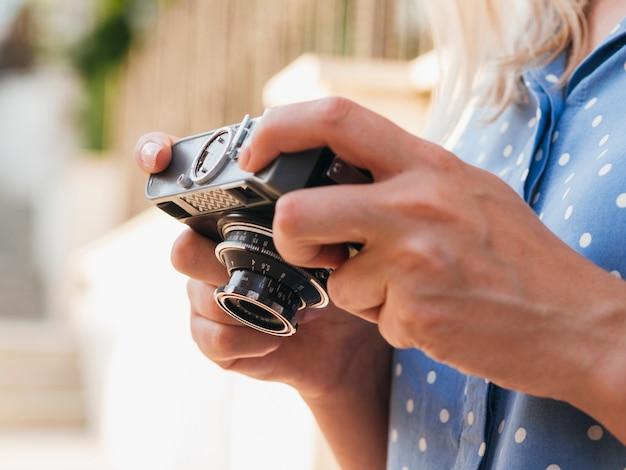 Dispositivo de cámara para fotos profesionales.