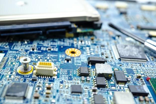 Dispositivo de la electrónica del procesador de la base del mainboard del microprocesador de la cpu del circuito de computadora.