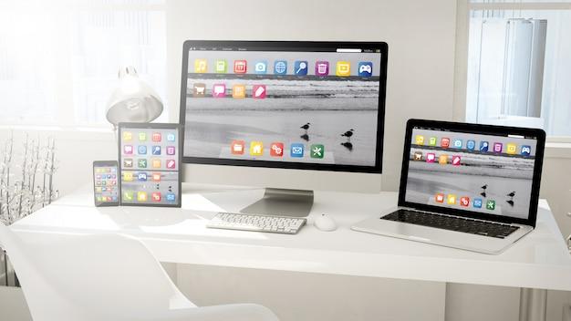 Dispositivos de escritorio: computadora, tableta, computadora portátil y teléfono