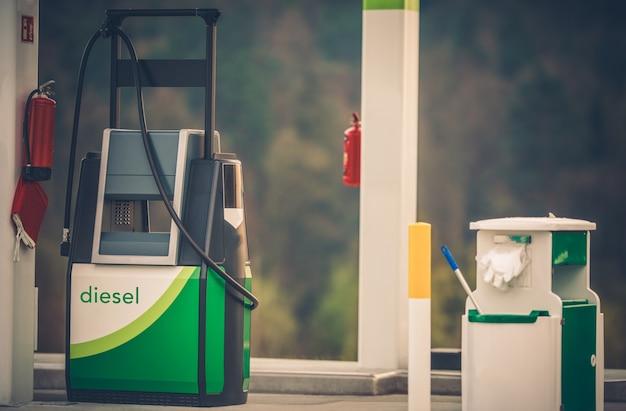 Distribuidor de combustible de la gasolinera