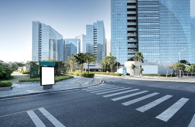 Distrito central de negocios, carreteras y rascacielos, xiamen