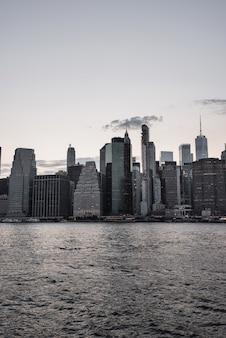 Distrito financiero en la ciudad de nueva york