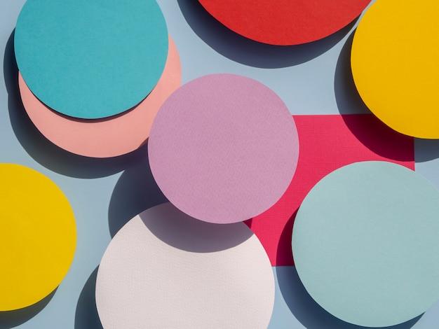 Diversidad de diseño de papel de círculos abstractos.