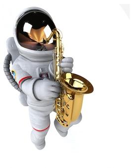 Divertida animación de astronautas