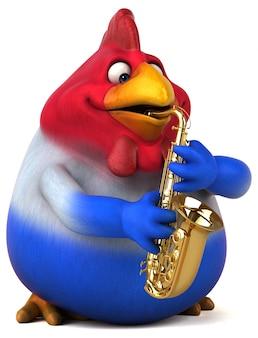 Divertida animación de pollo