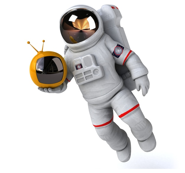 Divertida ilustración de astronauta