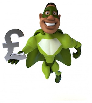 Divertido superhéroe - personaje 3d
