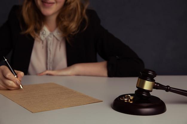 Divorcio, disolución, anulación de matrimonio, documentos legales de separación.