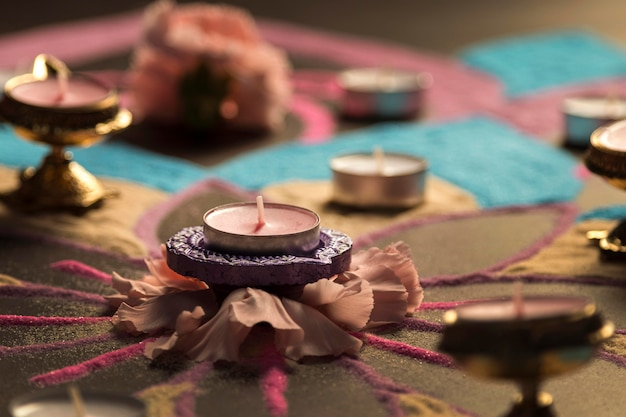 Diwali festival de la tradición de las luces