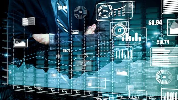 Doble exposición conceptual del crecimiento de los beneficios empresariales