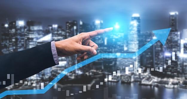 Doble exposición de crecimiento de ganancias de negocios