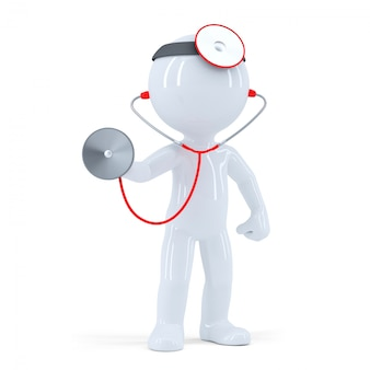 Doctor con estetoscopio