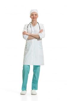 Doctora aislado. concepto de salud