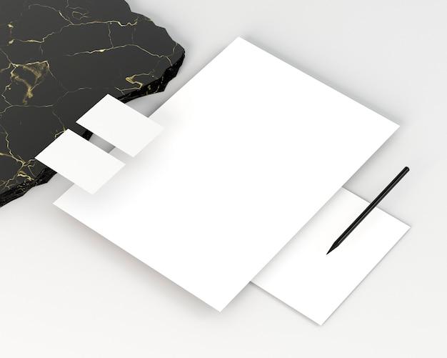 Documentos de espacio de copia de papelería comercial