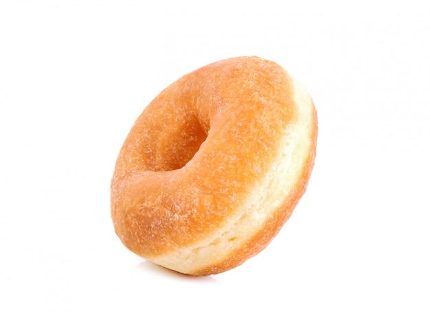 Donut sabroso aislado en blanco