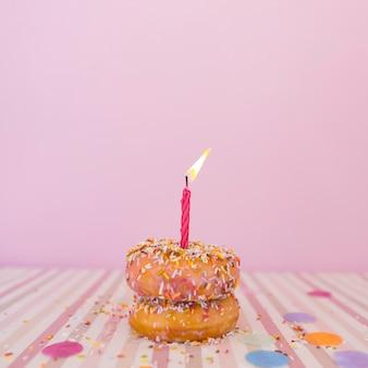 Donut con vela