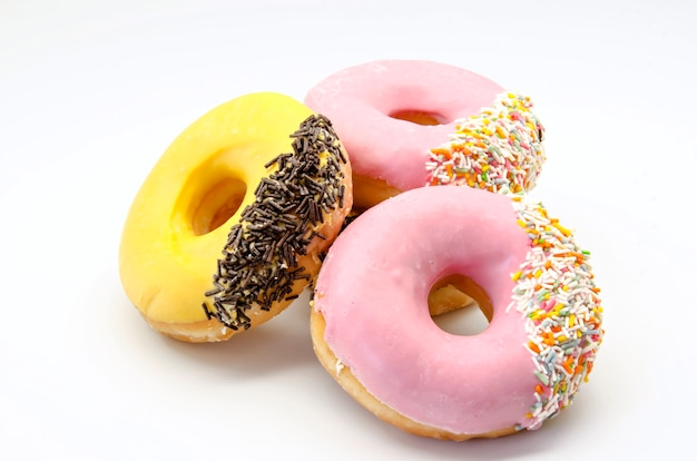 Donuts coloridos con chispitas