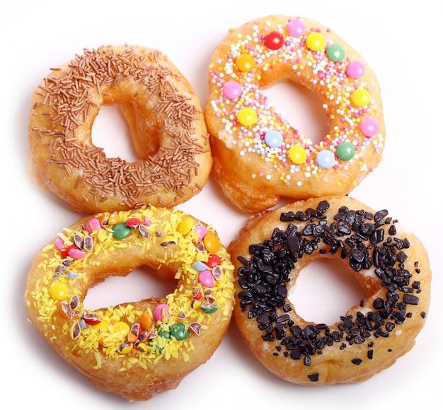 Donuts coloridos sabrosos