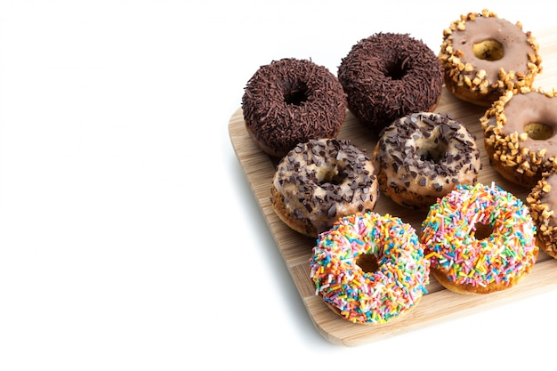 Donuts en placa de madera