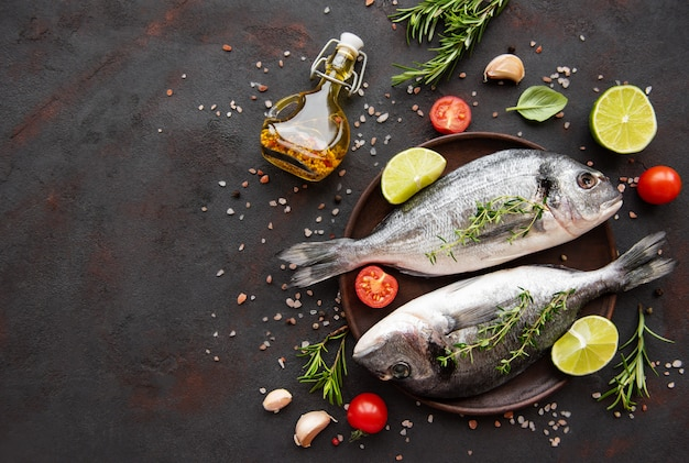 Dorada de pescado fresco