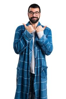 Dormir ropa pulgar masculina