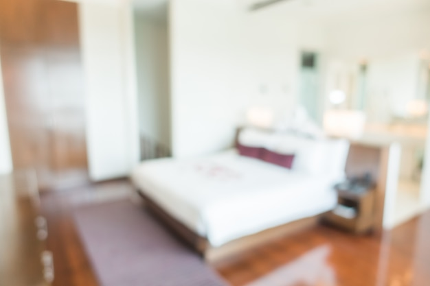 Dormitorio borroso abstracto