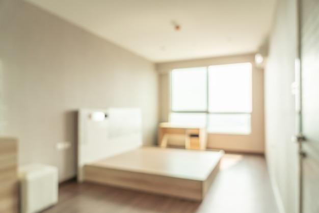 Dormitorio de desenfoque abstracto para el fondo