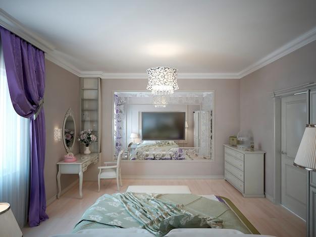 Dormitorio estilo neoclásico