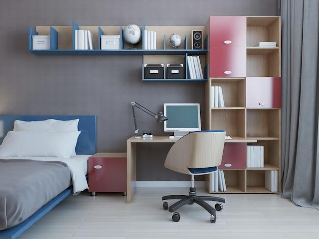 Dormitorio del estudiante contemporáneo.