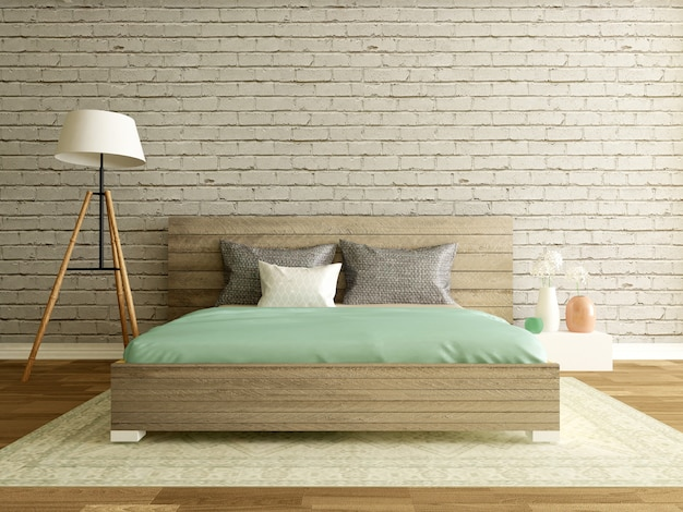 Dormitorio interior moderno