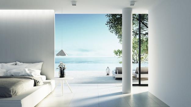 Dormitorio de playa interior