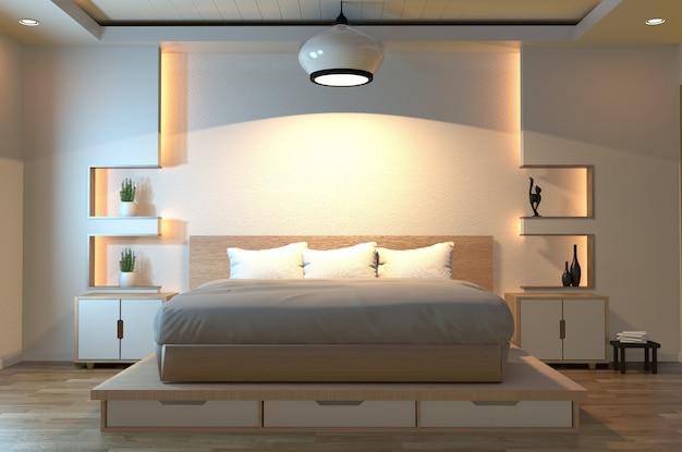 Dormitorio zen moderno y tranquilo