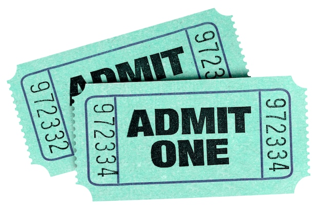 Dos boletos verdes viejos admiten uno