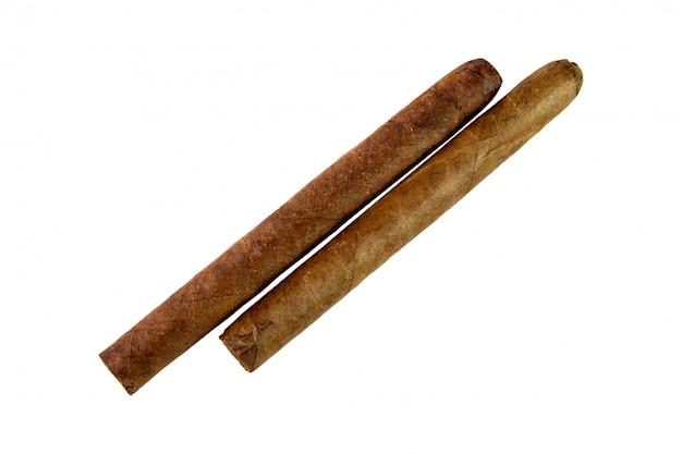 Dos cigarros cubanos