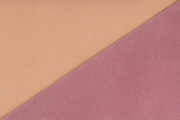 Dos colores de fondo beige y marrón sombra. textura de terciopelo de fieltro.