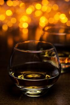 Dos copas de coñac