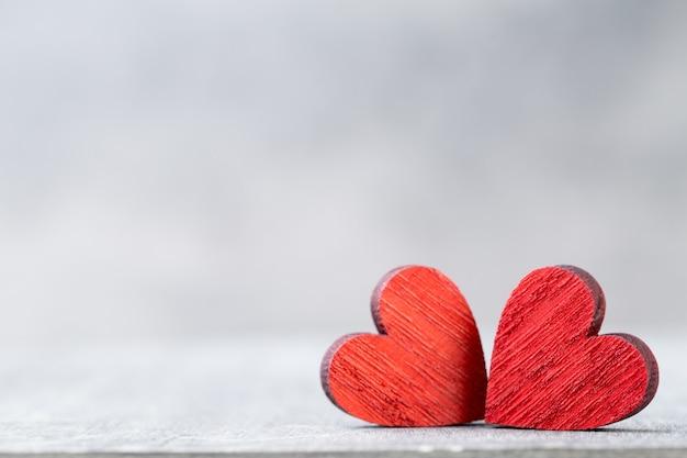 Dos corazones. día de san valentín .