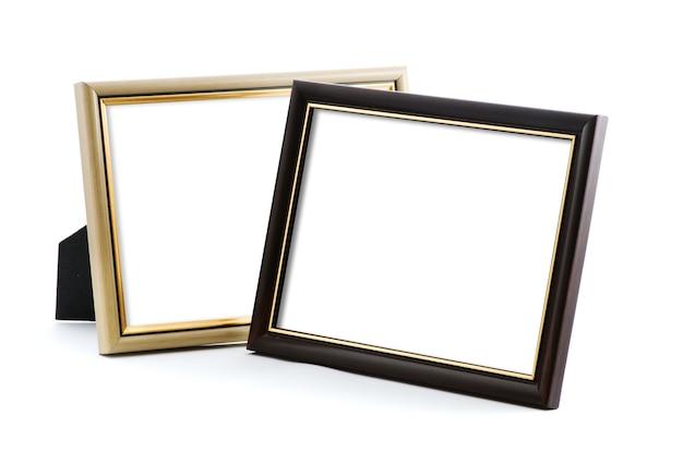 Dos marcos de fotos con espacio vacío.