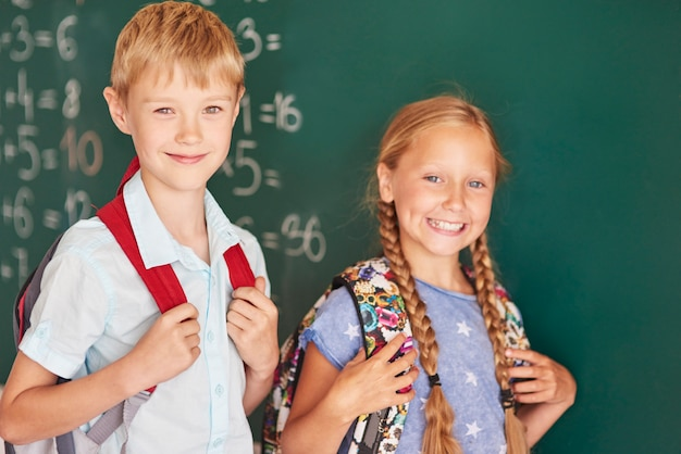 Dos mejores estudiantes de la escuela